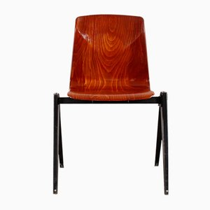 Mid-Century Plywood & Metal Chair from Pagholz