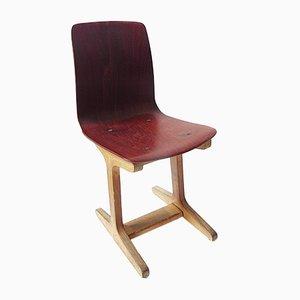 Chaise pour Enfant d'Allemagne de l'Est Vintage avec Siège Moulé