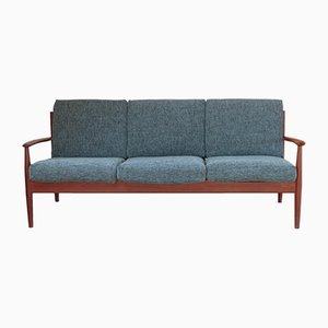 Model 118 Scandinavian Teak Sofa by Grete Jalk for France & Søn, 1960s