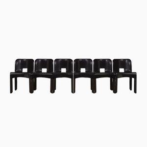 Chaises Universale 4867 Vintage par Joe Colombo pour Kartell, 1970s, Set de 6