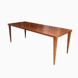 Teak & Teak Veneer Dining Table by Nanna Ditzel for Poul Kolds Saværk, 1950s
