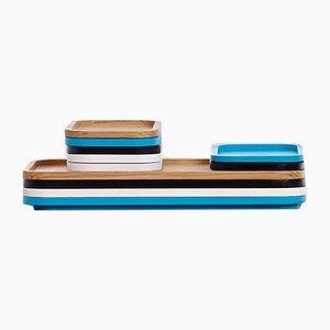 July Tabletts aus Holz von Jean-François D'Or für Cruso, 5er Set