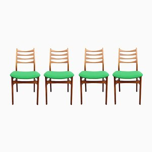 Grass Green Chairs, 1950s, Set of 4
