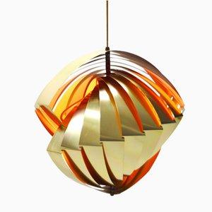 Lámpara colgante Konkylie Mid-Century de Louis Weisdorf para Lyfa