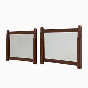 Espejos de la Escuela de Amsterdam Art Déco de Paul Bromberg para Metz & Co., años 20. Juego de 2