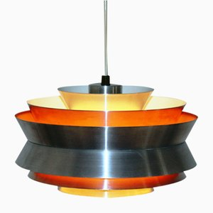 Lámpara colgante de aluminio de Carl Thore para Fog & Mørup, años 60