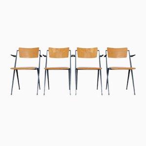 Pyramid Chairs by Wim Rietveld for Ahrend de Cirkel, 1960s, Set of 4