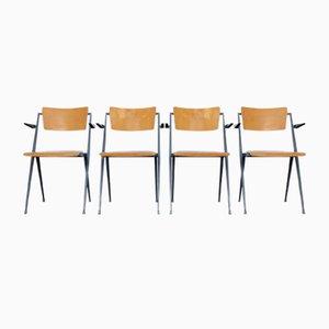 Pyramid Stühle von Wim Rietveld für Ahrend de Cirkel, 1960er, 4er Set