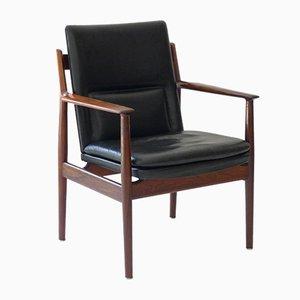 Vintage Modell 341 Palisander Armlehnstuhl von Arne Vodder für Sibast Møbler