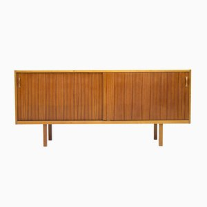 Swedish Teak Sideboard with Sliding Doors, 1960s