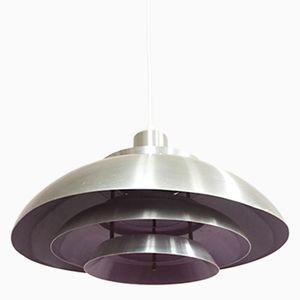Scandinavian Bicolored Suspension Lamp from Jeka, 1970s