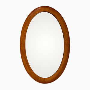 Oval Wall Mirror from Pedersen & Hansen, 1960s