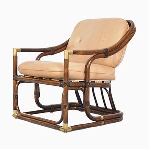 Mid-Century Bent Bamboo Tub Chair, 1960s