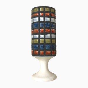 Vaso in ceramica colorata di Roger Capron, anni '60