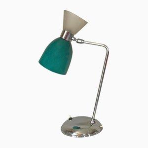 Lampada in metallo cromato e vetro, anni '60