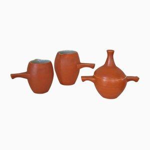 Servizio vintage in ceramica di Elchinger, Francia, set di 3