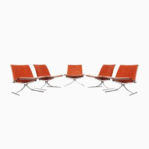 Mid-Century K710 Skater Chairs by Preben Fabricius & Jørgen Kastholm for Kill International, Set of 5