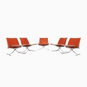 Mid-Century K710 Skater Chairs by Preben Fabricius & Jørgen Kastholm for Kill International, Set of 5