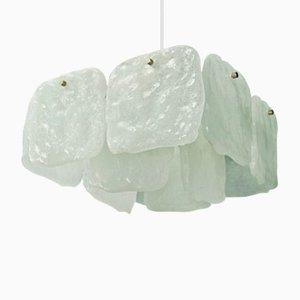 Lámpara de araña vintage de cristal de hielo de Murano de Kalmar