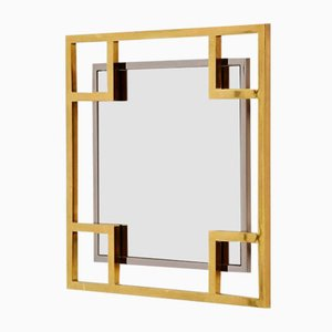 French Wall Mirror from Maison Jansen, 1970s
