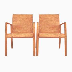 Sillas de recibidor 403 de Alvar Aalto para Finmar. Juego de 2