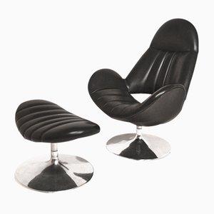 Sessel mit Fußhocker von Rohe Noordwolde, 1970er
