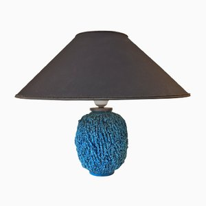 Chamotte Ceramic Turquoise Table Lamp by Gunnar Nylund for Rorstrand, 1950s