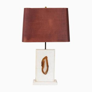 Vintage Marble Lamp with Agate
