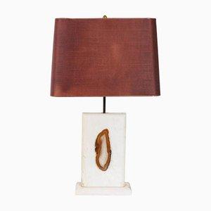 Vintage Marmorlampe mit Achat