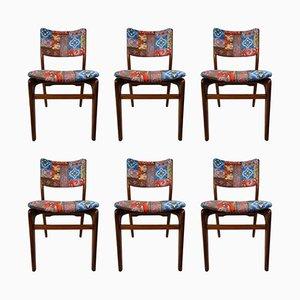 Chaises Vintage par Louis Van Teeffelen pour WéBé, Set de 6