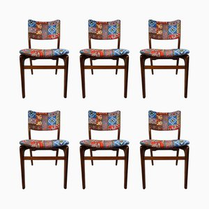 Vintage Chairs by Louis Van Teeffelen for WéBé, Set of 6
