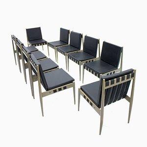 Leatherette SE 121 Chairs by Egon Eiermann for Wilde & Spieth, 1965, Set of 10