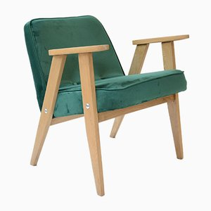 Mid-Century Green 366 Armchair by Jozef Marian Chierowski