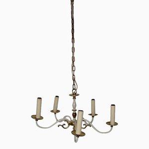 Lámpara de araña de latón de Kaiser Leuchten, años 60