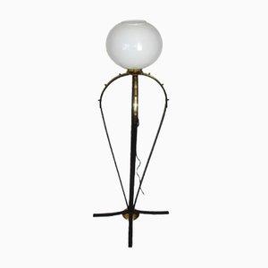 Lámpara de pie Mid-Century moderna, años 70