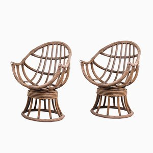 Rotating Vintage Bentwood Garden Chairs, 1950s, Set of 2