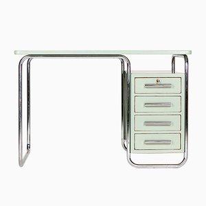 Stahlrohr Schreibtisch von Vichy & Co., 1930er