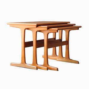Danish Teak Nesting Tables by Kai Kristiansen for Vildbjerg Møbelfabrik, 1960s