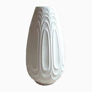 Jarrón de suelo alemán grande de porcelana de H&C Heinrich, años 60