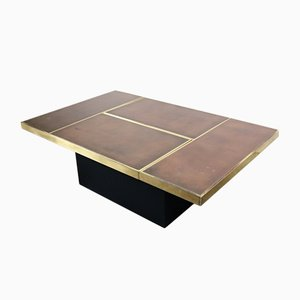 Table Basse Vintage avec Bar Caché par Willy Rizzo