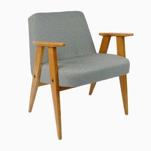 Sedia modello nr. 366 vintage grigia di Jozef Chierowski