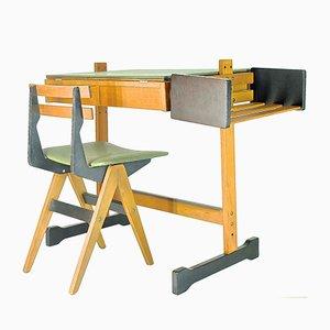 Kinderschreibtisch & -stuhl von Fratelli Reguitti, 1955