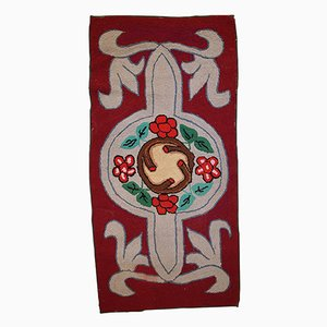 Vintage American Hooked Handmade Rug, 1930s