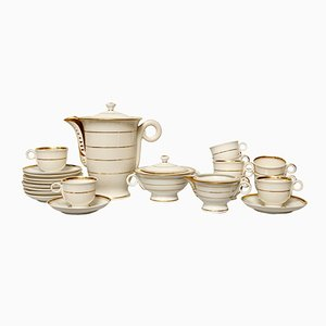 Art Deco Porcelain Coffee Set from Limoges, 1930s