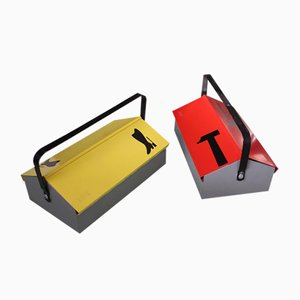 Vintage Tool Boxes by Wilhelm Kienzle for Mewa, 1960s, Set of 2
