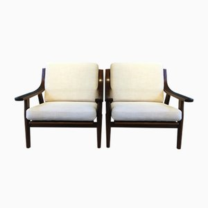 Oak GE530 Chairs by Hans J. Wegner for Getama