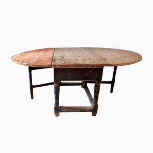 Ausziehbarer Antiker Schwedischer Rokoko Tisch
