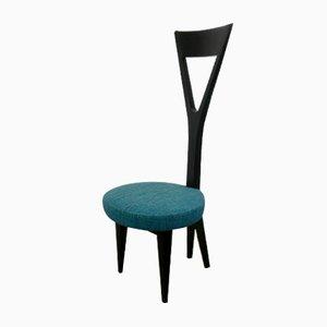 Sedia con seduta azzurra di Felix Stöckli, anni '50