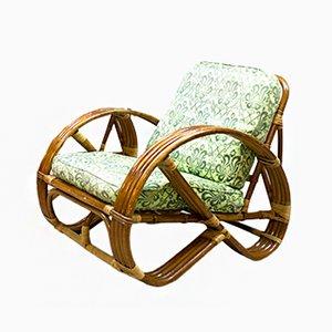 Vintage Rattan Bamboo Lounge Chair