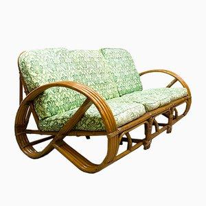 Vintage Rattan & Bambus Sofa von Rohé Noordwolde